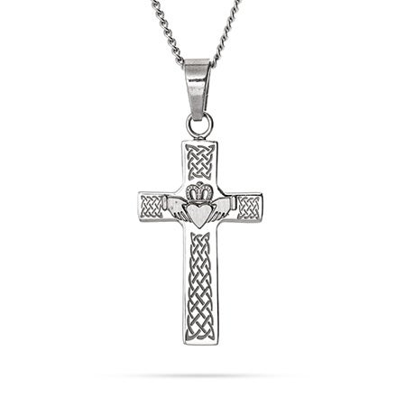 Claddagh Celtic Cross Pendant