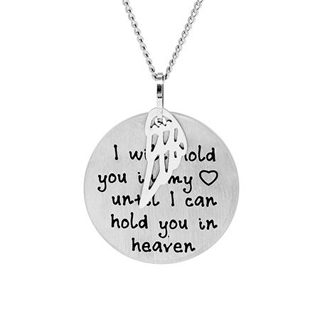 Hold You in My Heart Bereavement Engravable Necklace