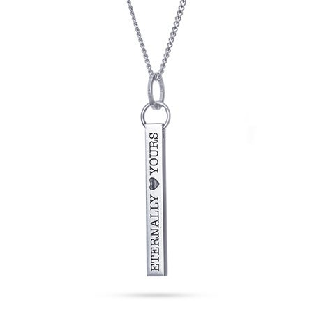 Eternally Yours Engravable Bar Necklace