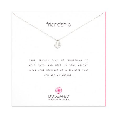 Dogeared Friendship Anchor Sterling Silver Necklace | Eve's Addiction