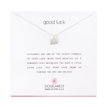 Dogeared Good Luck Elephant Sterling Silver Necklace | Eve's Addiction®