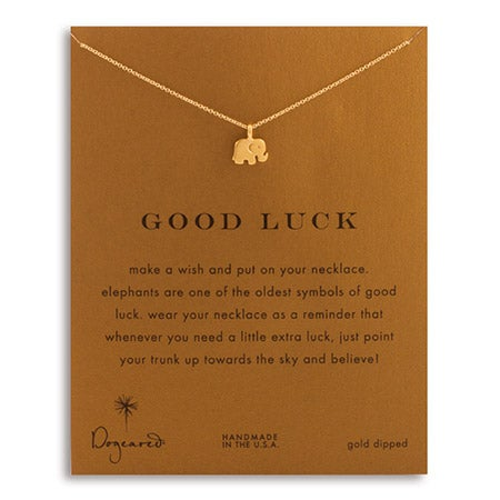 Dogeared Good Luck Elephant Gold Necklace