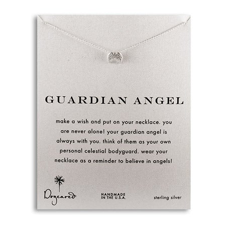 Dogeared Guardian Angel Wings Sterling Silver Necklace | Eve's Addiction