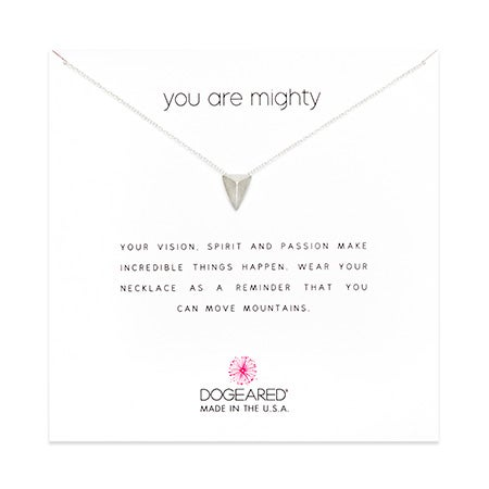 Dogeared You Are Mighty Pyramid Silver Necklace