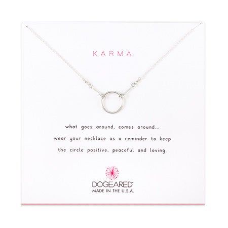 Dogeared Karma Sterling Silver Necklace | Eve's Addiction®