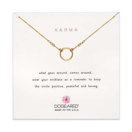 Dogeared Karma Gold Dipped Necklace
