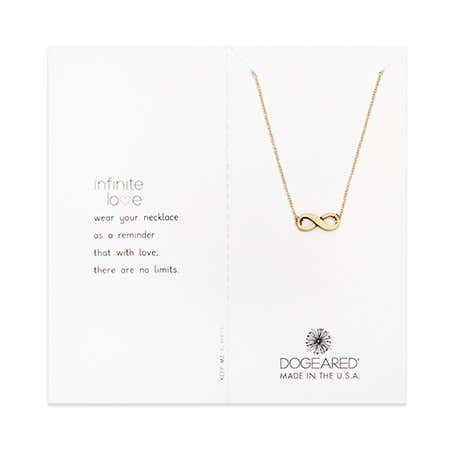 Dogeared Infinite Love Gold Dipped Necklace