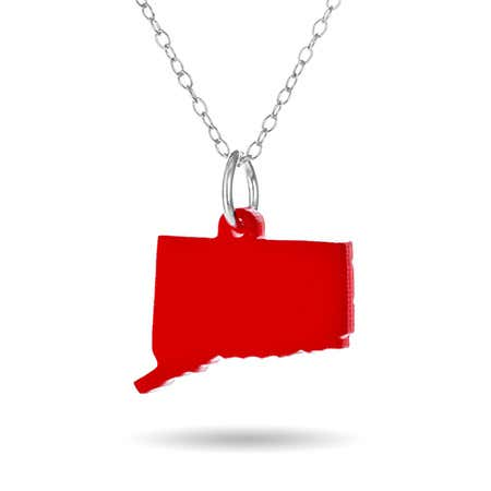Connecticut Acrylic State Necklace | Eve's Addiction®