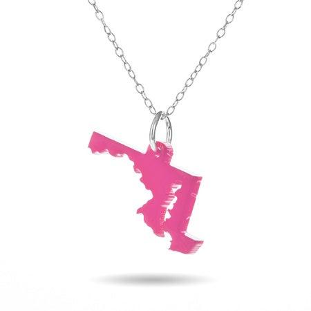 Maryland Acrylic State Necklace