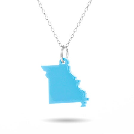 Missouri Acrylic State Necklace