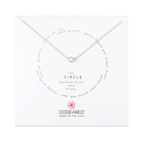 Dogeared Circle Sterling Silver Necklace