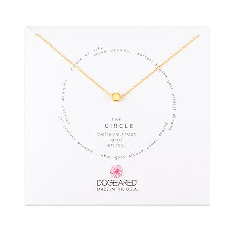 Dogeared Circle Gold Dipped Necklace