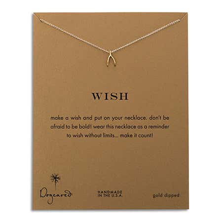 Dogeared Wish Gold Dipped Necklace | Eve's Addiction®