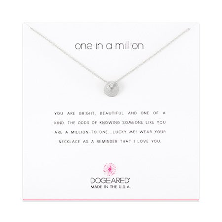 Dogeared One In A Million Sand Dollar Sterling Silver Necklace