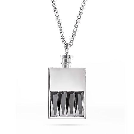 Engravable Black Onyx Tag Necklace