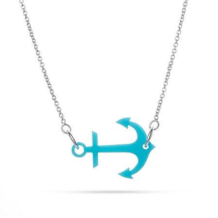 Acrylic Sideways Anchor Necklace