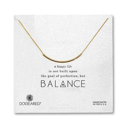 Dogeared Gold Dipped Balance Tube Necklace
