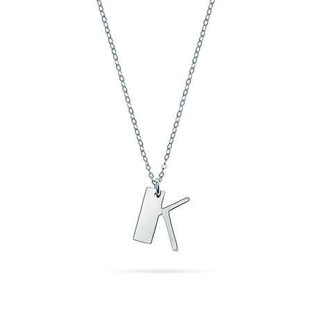 Initial Silver Charm Necklace