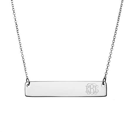 Petite Script Monogram Sterling Silver Necklace