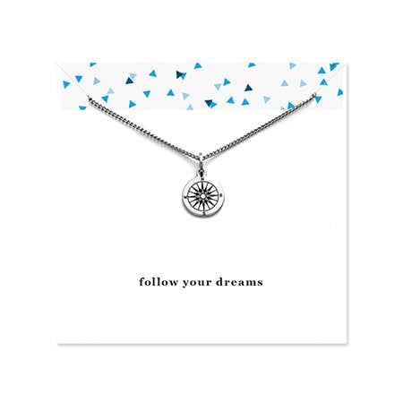 Engravable Compass Graduation Necklace