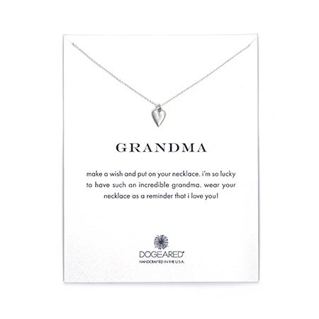 Dogeared Grandma Kind Heart Silver Necklace