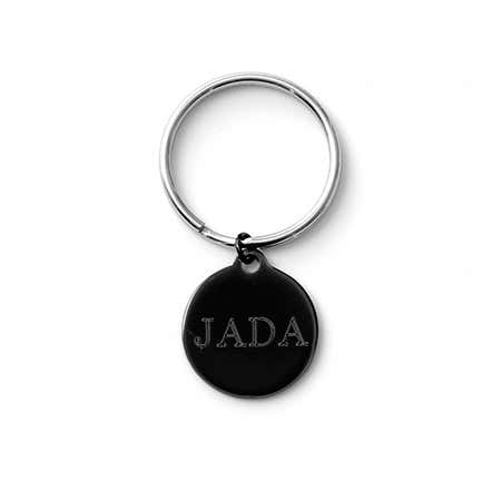 Engravable Medium Black Pet Tag