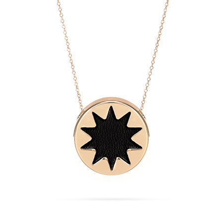 House of Harlow 1960 Mini Sunburst Necklace in Black and Gold