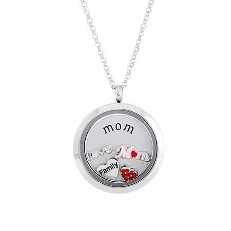 Mom Floating Charm Glass Locket