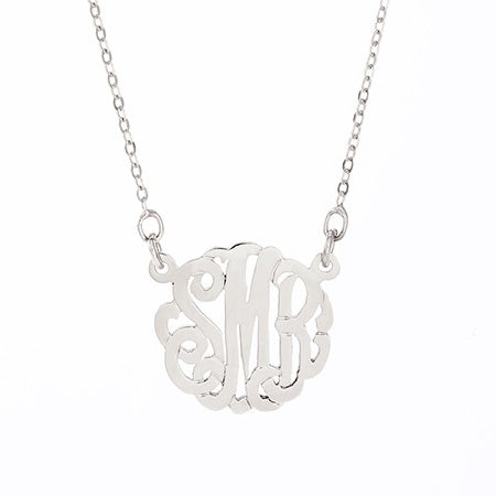 Petite Monogram Silver Necklace