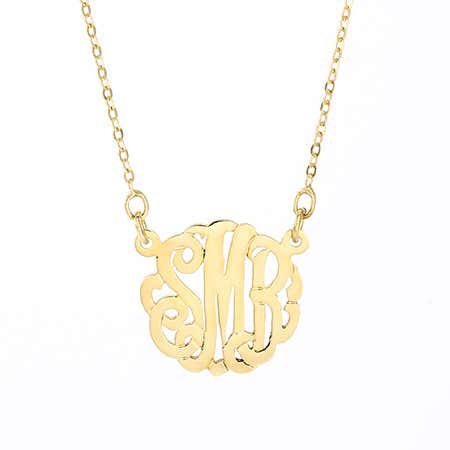 Petite Monogram Gold Necklace
