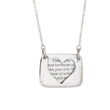 Foxy Love Note Necklace in Silver