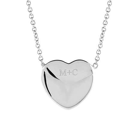 96274ba43 Custom Coordinate Silver Secret Message Envelope Heart Locket