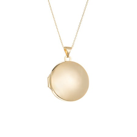 14K Gold Round Locket