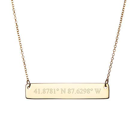 What does gold filled mean and 14k gold coordinate bar necklace