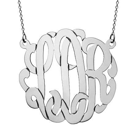 Custom 14K Solid White Gold Monogram