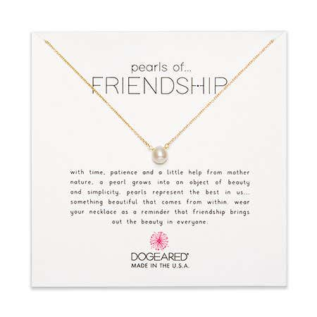 Dogeared Pearls of Friendship Gold Dipped Necklace