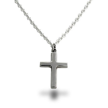 Sterling Silver Cross Necklace | Eve's Addiction®