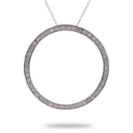 Pave Cubic Zirconia 1.5 Inch O Necklace | Eve's Addiction