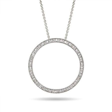 Diamond CZ 1.25 Inch O Necklace | Eve's Addiction®