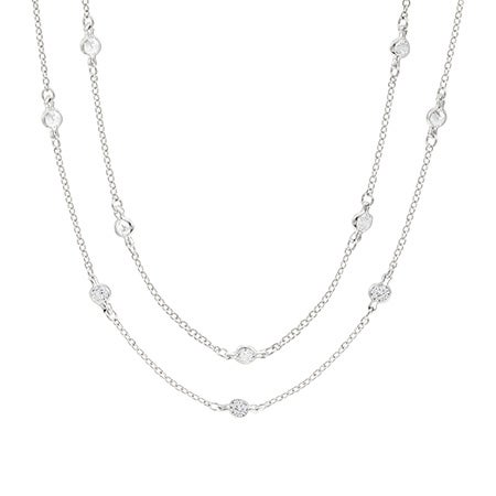 36 Inch Sparkling CZ Studded Chain | Eve's Addiction®