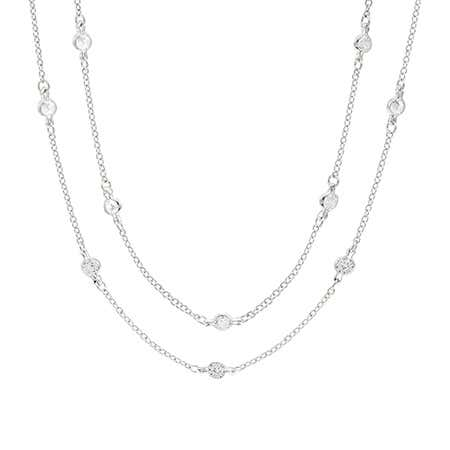 display slide 1 of 1 - 36 Inch Sparkling CZ Studded Chain - selected slide