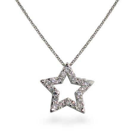 Designer Style Diamond CZ Star Pendant | Eve's Addiction®