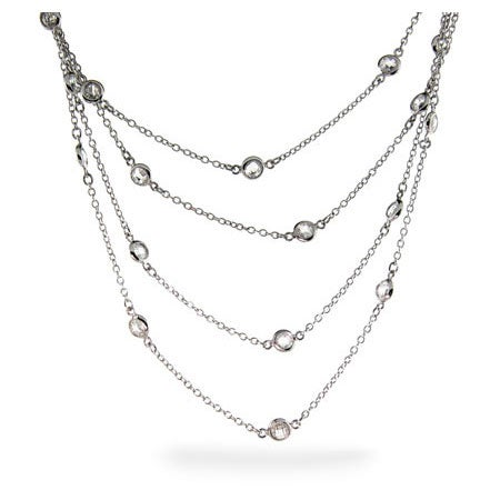 Designer Style Sparkling 60 Inch CZ Studded Chain | Eve's Addiction®