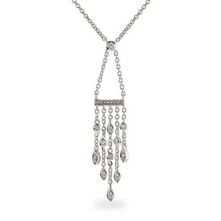 Designer Style CZ Sway Drop Necklace | Eve's Addiction®
