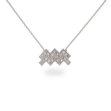 CZ Aquarius Necklace