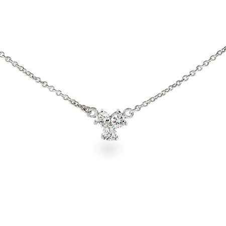Three Stone CZ Necklace | Eve's Addiction