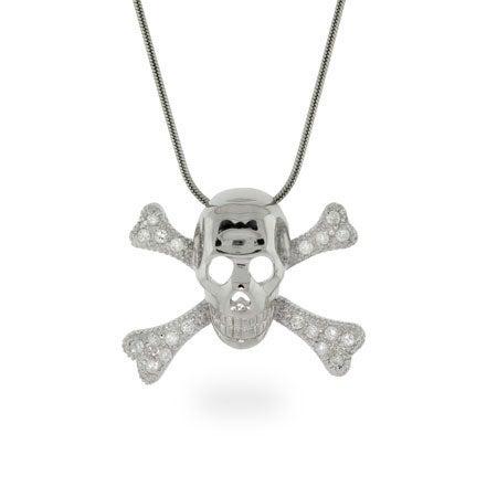 CZ Skeleton Necklace