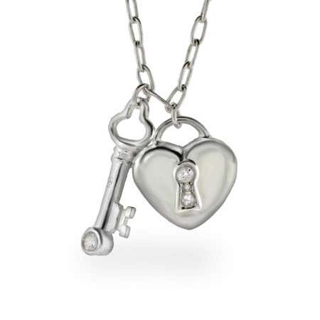 The Key To My Heart Charm Necklace   Eve's Addiction