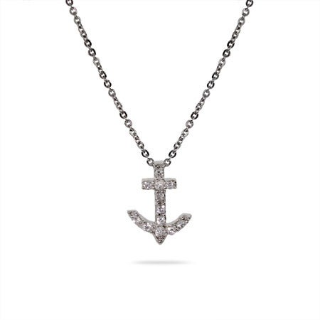 Petite CZ Anchor Pendant | Eve's Addiction®