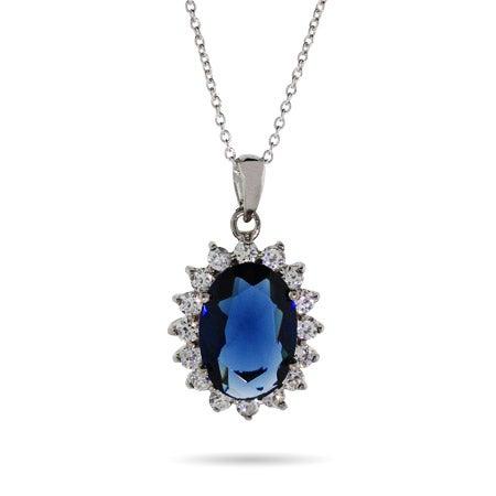 Sapphire CZ Necklace